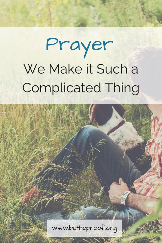 Prayer is such a complicated thing. Or at least, that's what we believe about it. I felt very strongly that prayer was something that was seriously lacking in my walk with God. Recently, I've met a lot of women who are passionate prayers, and when they storm the gates of heavens with their requests or those of others, God moves. I know this first hand because I mentioned to one of those prayer warriors that I was tired and worn out because Sarabeth wasn't sleeping well. I honestly hadn't even mentioned it as a prayer request, but as a state of being. However, that next day, Sarabeth slept more during her naps and was better behaved than the entire previous week. I was absolutely in awe of what God did that day. I asked my friend if she had prayed, and she had in fact prayed for Sarabeth and I.