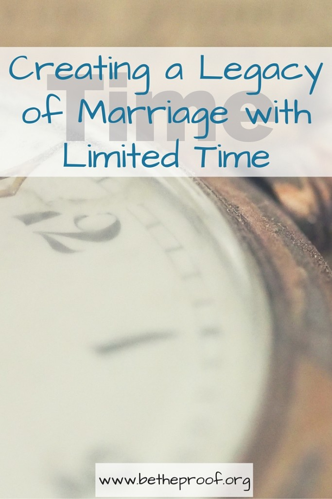 Time is an ever fleeting commodity. A glance at how to use your time wisely so that your kids see how much you value your marriage.