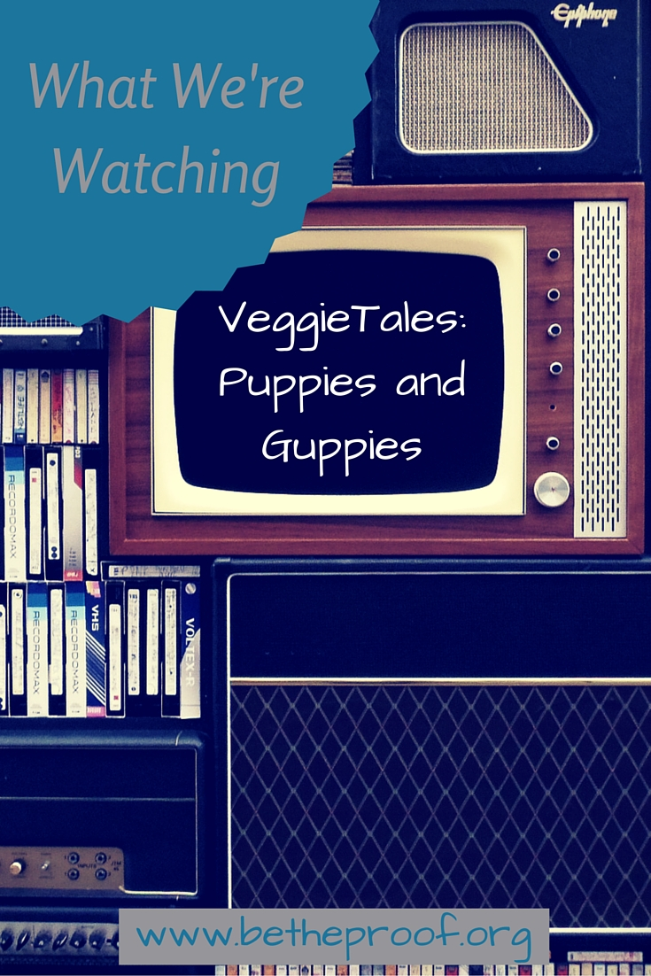 We got a cool new opportunity this past month to start sharing some Christian DVD movie reviews with you! I was especially excited last week when we received the DVD VeggieTales in the House - Puppies and Guppies. I grew up with the original Veggie Tales series and love the opportunity to introduce Sarabeth to something from my childhood.