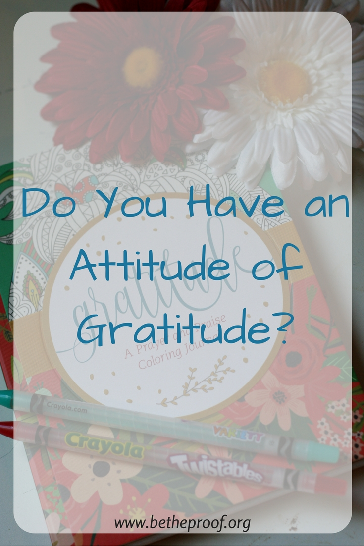 do you have an attitude of gratitude